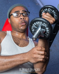 Working out, Baltimore Maryland portrait picture